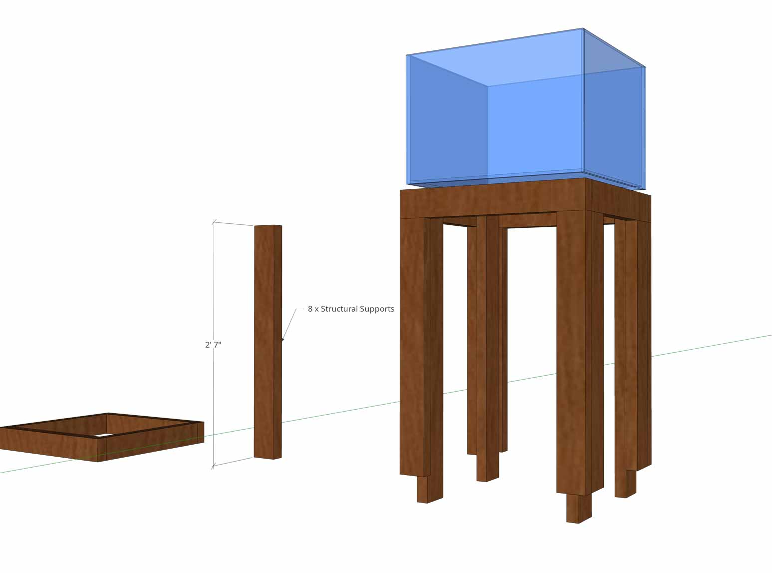Aquarium Stand - Structural Supports